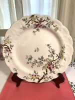 "Vintage Booths Chinese Tree Porcelain Dec flowers plate 12""diameter Rare"
