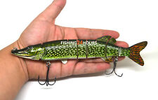 8 Inch Pike Muskie Fishing Lure Bait Life-like Baby Pike NEW