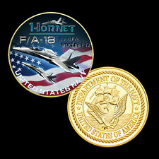 F/A-18 Hornet airplane printed Coin A8#