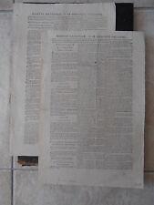 JOURNAUX N°89 ET 90 GAZETTE NATIONALE OU LE MONITEUR UNIVERSEL 1794