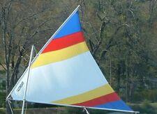 Sail for Super Snark, Sea Snark, canoe, etc. White with Rainbow Stripes