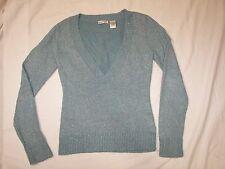 Women's Energie Sweater - Jrs. L - Aqua Blue Glitter