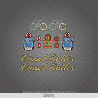 Claud Butler Bicycle Stickers - Decals - Transfers Script Style Text 10 Colours