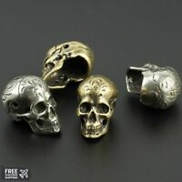 Skull Brass Indian Beads Umbrella Rope Bead Outdoor Flower Grain Paracord Beads