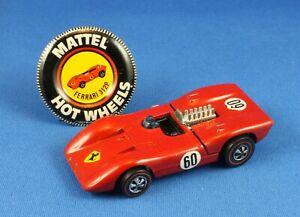 1969 Hot Wheels Redline Ferrari 312P Red w/Badge - Original Owner