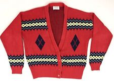 Vintage Pendleton Knockabouts Womens S Red Cardigan Sweater Country Sophisticate
