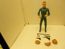 """VINTAGE MARX MIKE HAZARD DOUBLE AGENT SPY 12"""" ACTION FIGURE AND ACCESSORIES"""