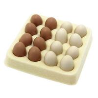 Dollhouse Miniature Kitchen Food Toy Mini 16pics Eggs on Price Tray Low Mod B1S9