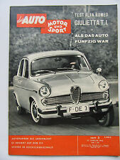 Auto Motor Sport 3/1962, Test Alfa Romeo Giuletta T.I.