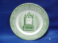 """CURRIER & IVES CLOCK Saucer 6 1/2"""" The Old Curiosity Shop Green Royal China"""