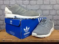 ADIDAS LADIES UK 5 EU 38 GREY NUBUCK FLUX JEWEL TRAINERS RRP £94