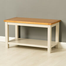 Mullion Painted Coffee Table / Narrow Painted Coffee Table with Solid Oak Top