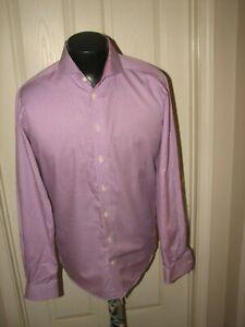 ETON CONTEMPORAY Men Purple Checks  Dress Shirt X L 17/ 43 New