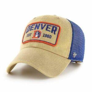 Denver Broncos NFL '47 Brand Clean Up Gadet Mesh Adjustable Snapback Hat - OSFA