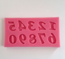 Numerical Number Soft Silicone Mold Fondant Mat Cake Decorating Cupcake Design