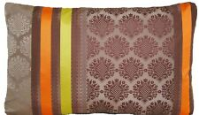 Designers Guild Silk Cushion Cover Perrault Cocoa Yellow Orange Taupe Rectangle