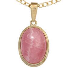 NEU Edelstein Anhänger rosa echt 585er Gelbgold 14 Karat Damen Kettenanhänger
