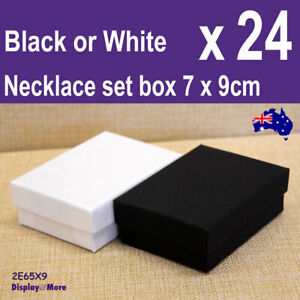Necklace Box JEWELLERY Case | BULK 24pcs | SMALL 7 x 9cm | Plain | AUS Stock