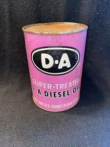 D-A DIESEL OIL SUPER TREATED LUBRICANT ONE QUART CAN INDIANAPOLIS INDIANA FULL A