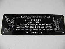 ** ANGEL Bench Memorial personalizzato inciso placca targa sign 160 x 55 mm **
