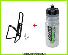 Borraccia TERMICA VERDE  + Portaborraccia ideale bicicletta Mountain Bike Corsa