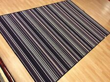 Crucial Trading Biscayne Aubergine Striped Wool Rug Carpet XL 194x300cm 60%OFF