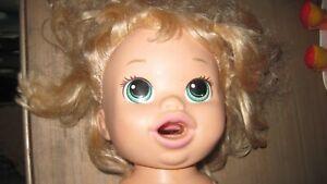 Baby Alive Snackin Sara Doll Hasbro Interactive Lot Talks Eats Poops Laughs 2014