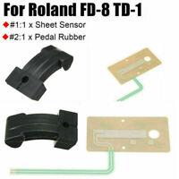 Para Roland Drum FD-8 TD-1 Hi Hat Sensor de Hoja Circuito Actuador Goma de Pedal