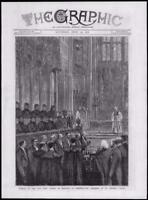 1878 - Antique Print LONDON Windsor St Georges Chapel Funeral King George (007)