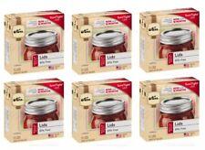 Lot Of 6 (72 Lids Total) Kerr Regular Mouth Mason Lids, Home Canning Jar Ball
