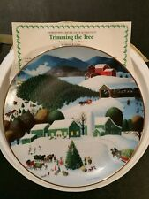 "Artaffects, Christmas Celeb. Of Yesteryear, ""Trimming the Tree"",Collector Plate"