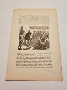 Sir Humphrey Hilbert reading his Commission c. 1876 Engraving / Print
