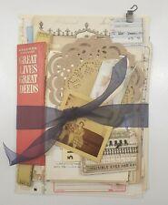 100+ Lot Old Unique Book Paper Ephemera Collage Junk Journal Altered Art #5-D
