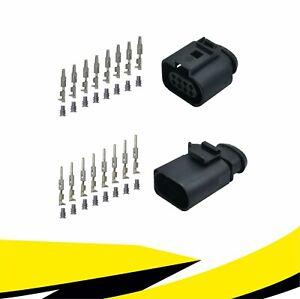Buchse + Stecker 8-polig Reparatursatz 1J0973714 1J0973814 für VW AUDI MT Crimp