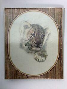 Vintage Lion Cub Mead Trapper Keeper Notebook 3 Ring Binder Folder Baby Animal