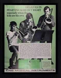1972 Urbie Green Trombonist & Sons King Musical Instruments Original Print Ad