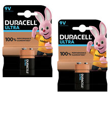 2 X DURACELL 9V PP3 ULTRA POWER ALKALINE BATTERIES PP3 SQUARE SMOKE ALARM