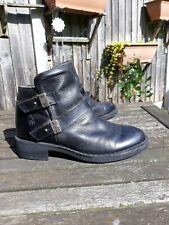 Fly London Black Leather Ankle Boots size 6