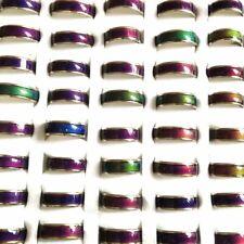 Bulk lots 100pcs Men's Women's Wholesale Mood Ring Temperature Color Change Ring