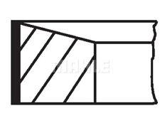 MAHLE ORIGINAL Piston Ring Kit 640 57 N0