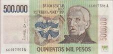 Argentina Banknote P309 Col 669a 500.000 Pesos Sig Lopez Ianella, UNC