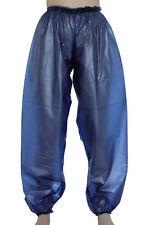 PVC Vinyl Trousers Jogging Pants  AB Bottoms Pajamas 3 Sizes Soft Dk Blue Slacks