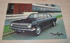 GAZ 24 Volga Nederland Russian Brochure Prospekt Avtoexport