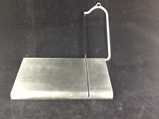 Stainless Steel Cheese Tofu Cake Sharp Blade Slicer Cutter & Serving Board