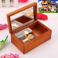 Rectangle jewelry Wood Wind Up  Music Box : Neighbours of Totoro