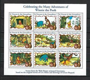 DISNEY-St Vincent & the Grenadines 1998 Sc#2576  Winnie the Pooh  MNH M/S $8.50