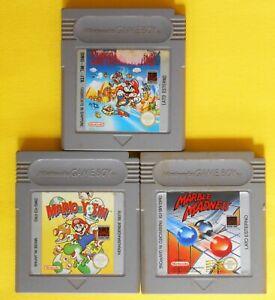 jeu jeux nintendo game boy mario & yoshi super mario land marble madness japan f