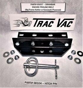 NEW - Trac-Vac Lawn Vacuum Drawbar ENCORE PROLINE MID Z - HITCH PLATE HITCH PIN