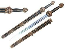 """38 1/2"""" 1060 Hand Forged Chinese YONG-LE Sword with Dual Blood Groove"""