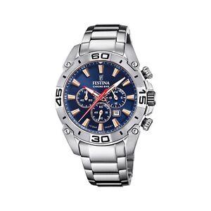 Festina F20543-4 Men's Chrono Bike Steel Bracelet Wristwatch